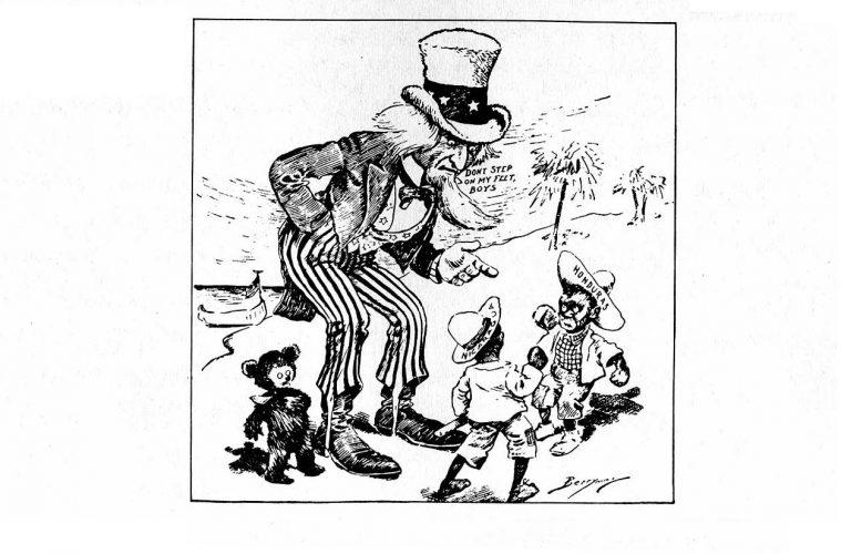 Así aparecía América Latina en las caricaturas gringas de 1900